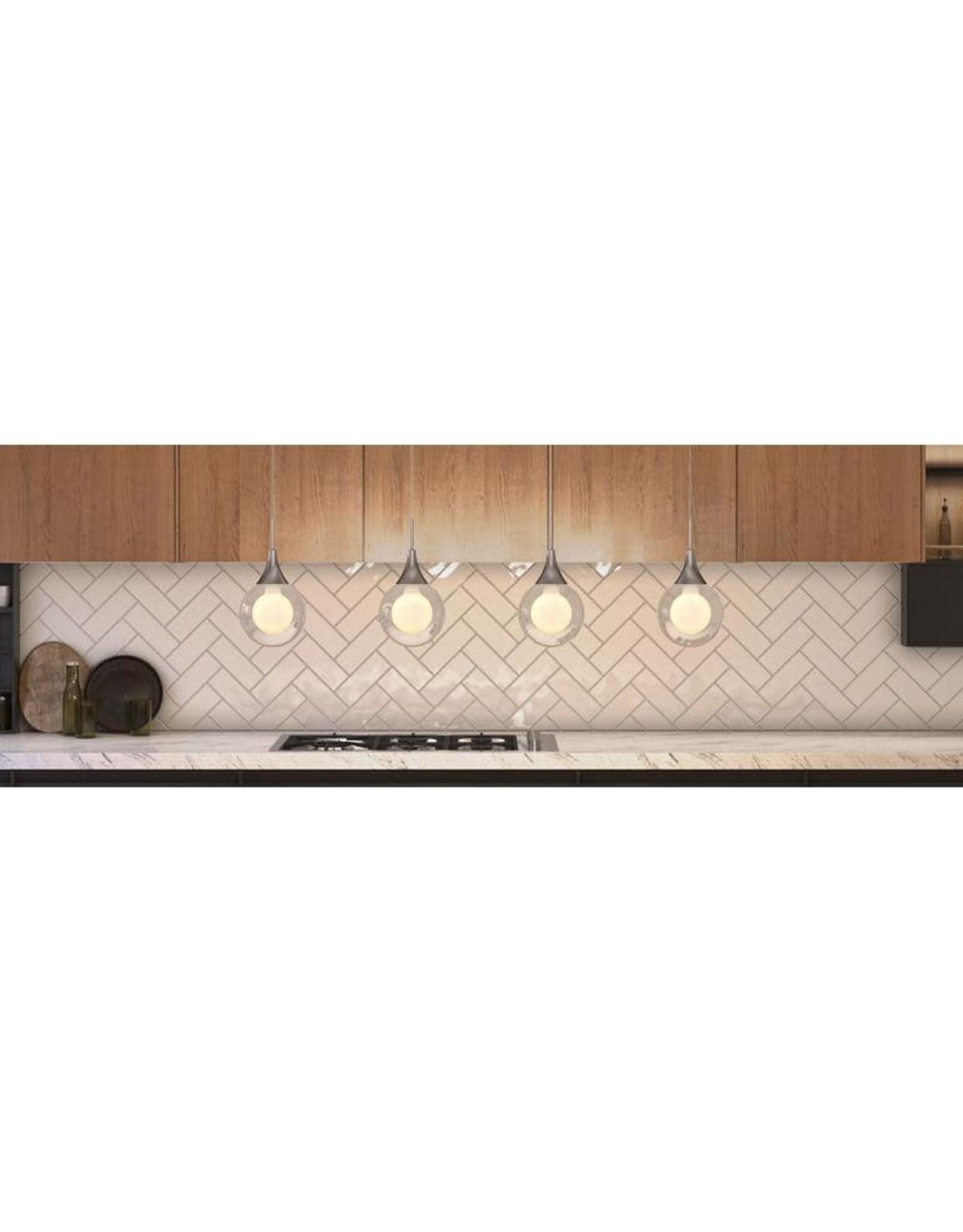 ARTIKA FOR LIVING INC Frosted Globe 11-Watt Chrome Integrated LED Pendant