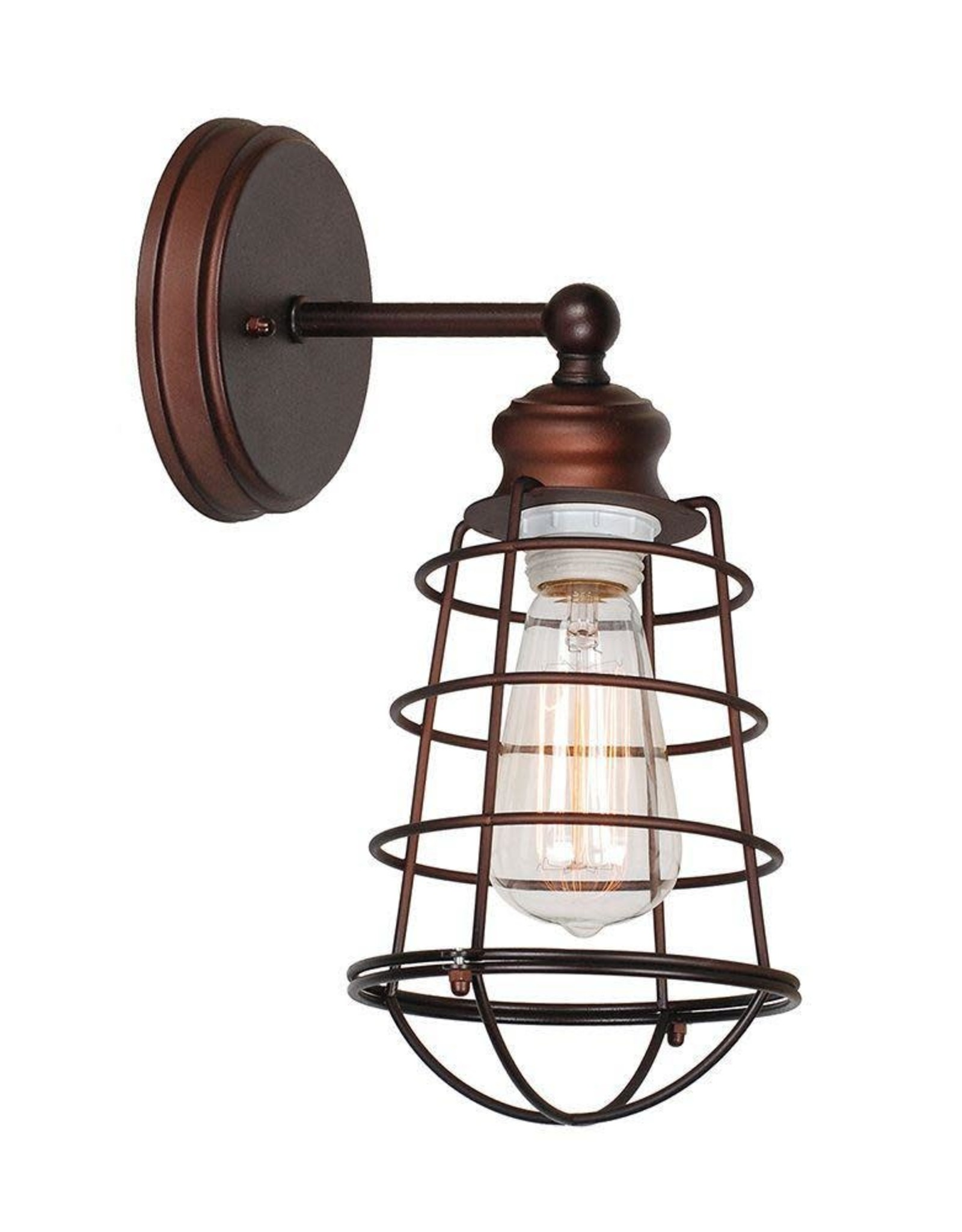 Design House Ajax Collection 1-Light Textured Coffee Bronze Indoor Sconce