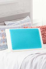 COMFORT REVOLUTION LLC Comfort Revolution Blue Bubble Gel + Memory Foam Pillow King