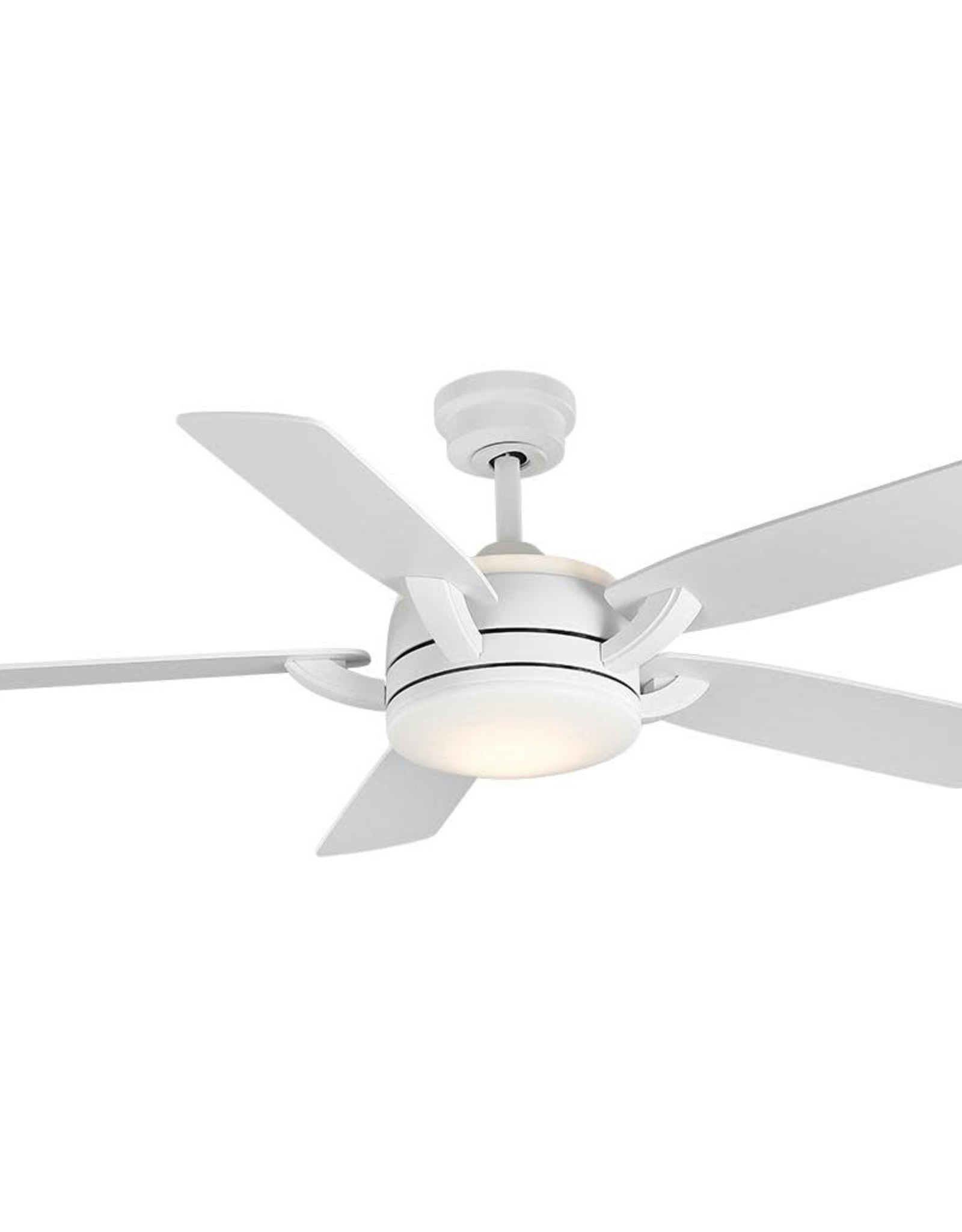 Home Decorators Collection Colemont 52 in. Integrated LED Matte White Ceiling Fan with Light and Remote Control