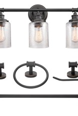 Globe Electric Camden 5-Piece All-In-One Bronze Bathroom Vanity Light Set