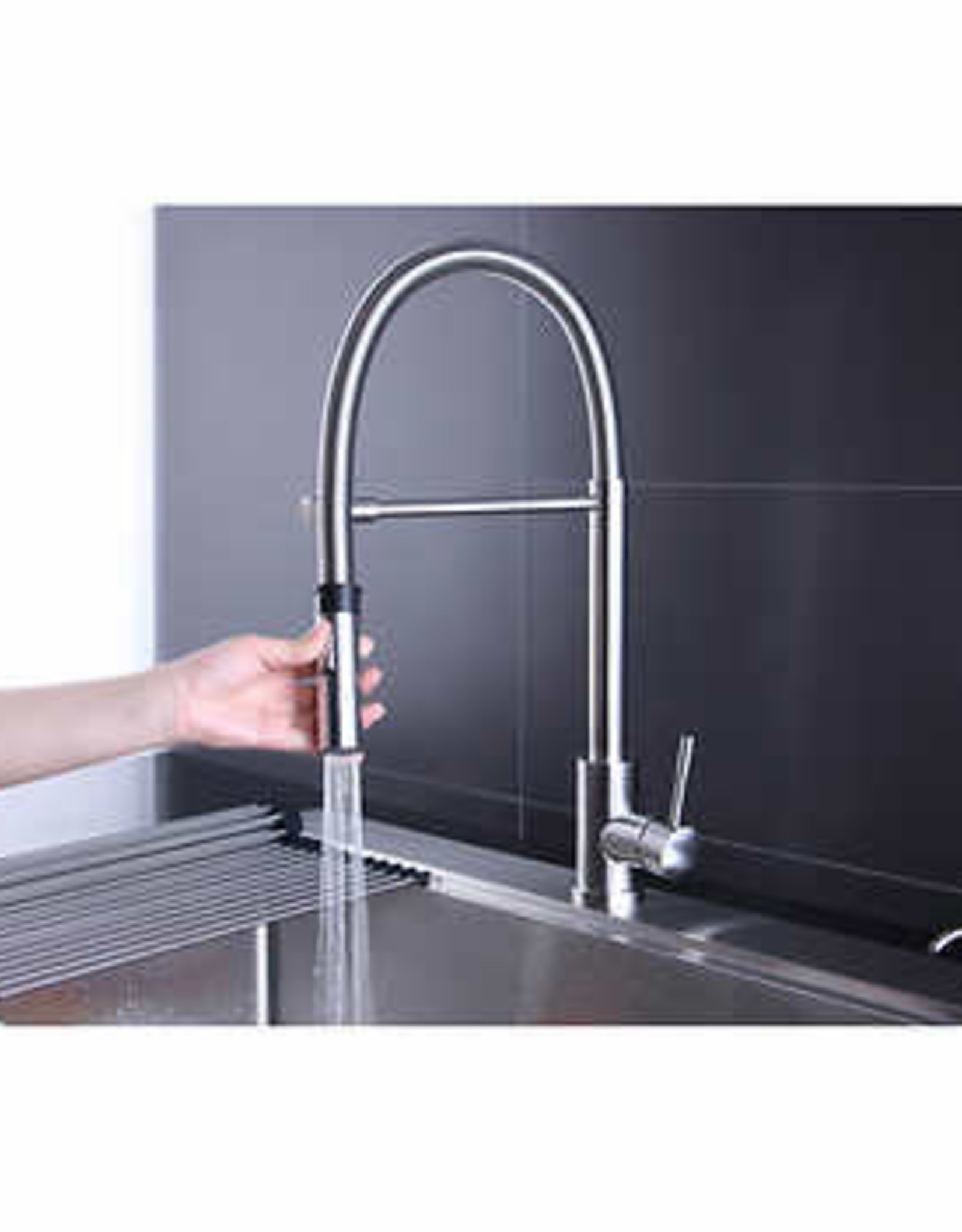 AFA USA LLC AFA Stainless 33-inch Sink and Semi Pro Faucet Combo