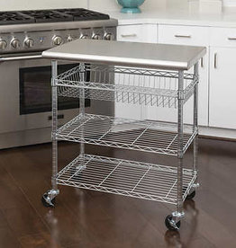 SEVILLE CLASSICS INC Seville Classics Stainless Steel Kitchen Cart