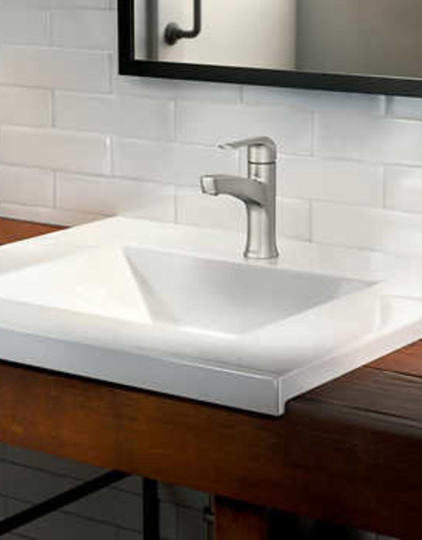 MOEN INCORPORATED Moen Tilson Single Handle Bathroom Faucet in Brushed Nickel
