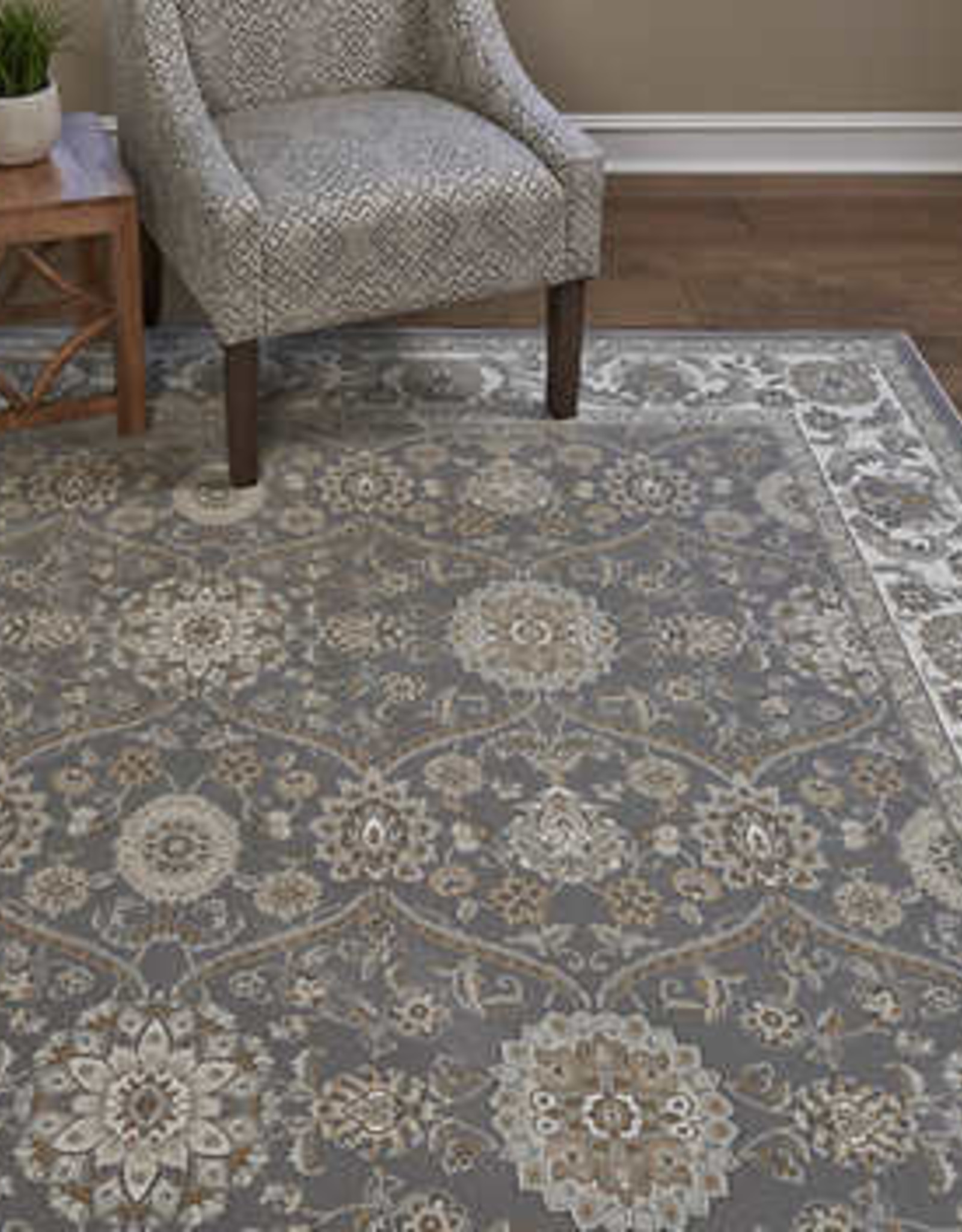 GA GERTMENIAN AND SONS 5X7 Thomasville Timeless Classic Rug Collection, Arundel Gray