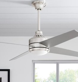 Home Decorators Collection Cali 52 in. Indoor Brushed Nickel LED Ceiling Fan with Light