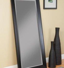 Martin Svensson Home Oversized Black Plastic Beveled Glass Full-Length Modern Mirror (65 in. H X 31 in. W)