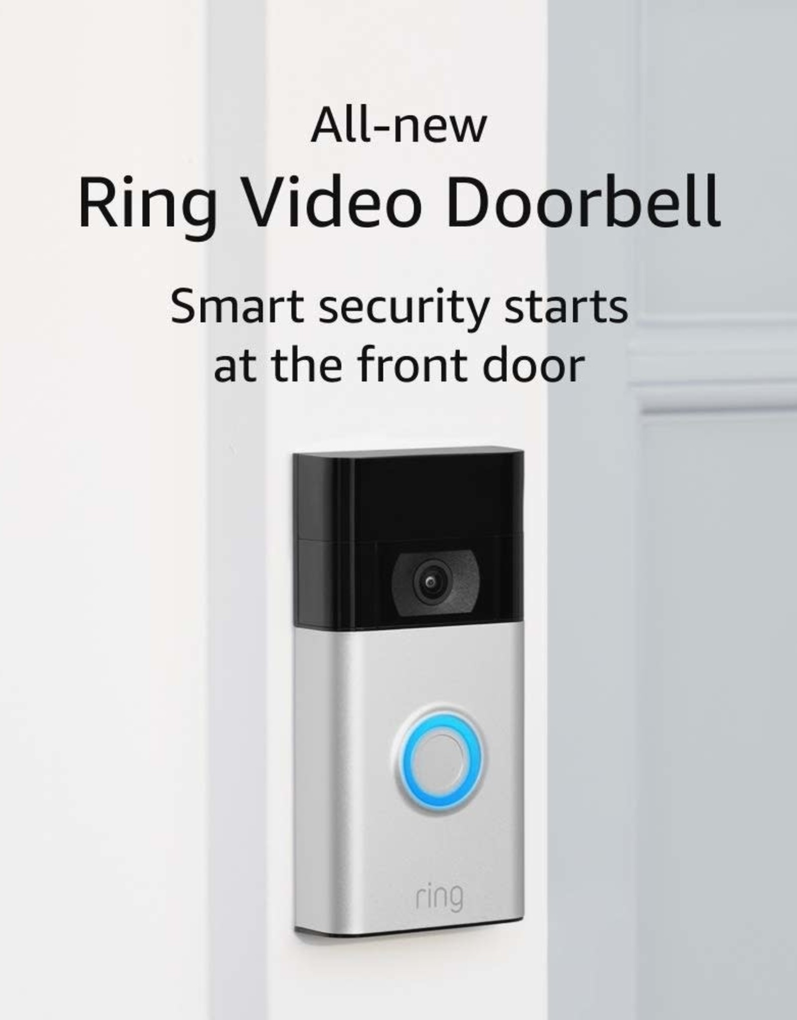 Ring 1080p HD Wi-Fi Wired and Wireless Video Doorbell 3 Smart Home Camera Removable Battery Works with Alexa