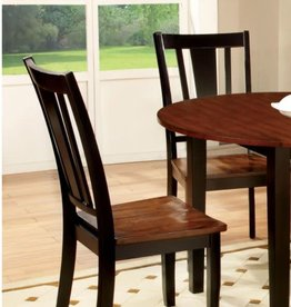 Furniture of America Lanius Black Cherry Solid Wood Slat Back Dining Side Chair (Set of 2)