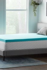 Lucid Comfort Collection 3 Inch Gel and Aloe Infused Memory Foam Topper - Full