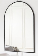 Home Decorators Collection Medium Arched Black Classic Accent Mirror (35 in. H x 24 in. W)