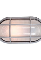 Access Lighting Nauticus 11 in. 1-Light Satin Outdoor Wall Mount Sconce