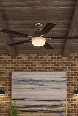 Hampton Bay Winfield 54 in. Indoor Liquid Nickel Ceiling Fan with Light Kit and Remote Control