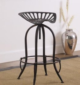 Coaster Home Furnishings Metal Tractor Seat Adjustable Bar Stool Antique Black