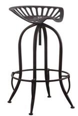 Coaster Home Furnishings Metal Tractor Seat Adjustable Bar Stool Antique Black