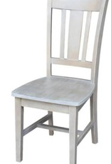 International Concepts San Remo Weathered Taupe Gray Dining Chair