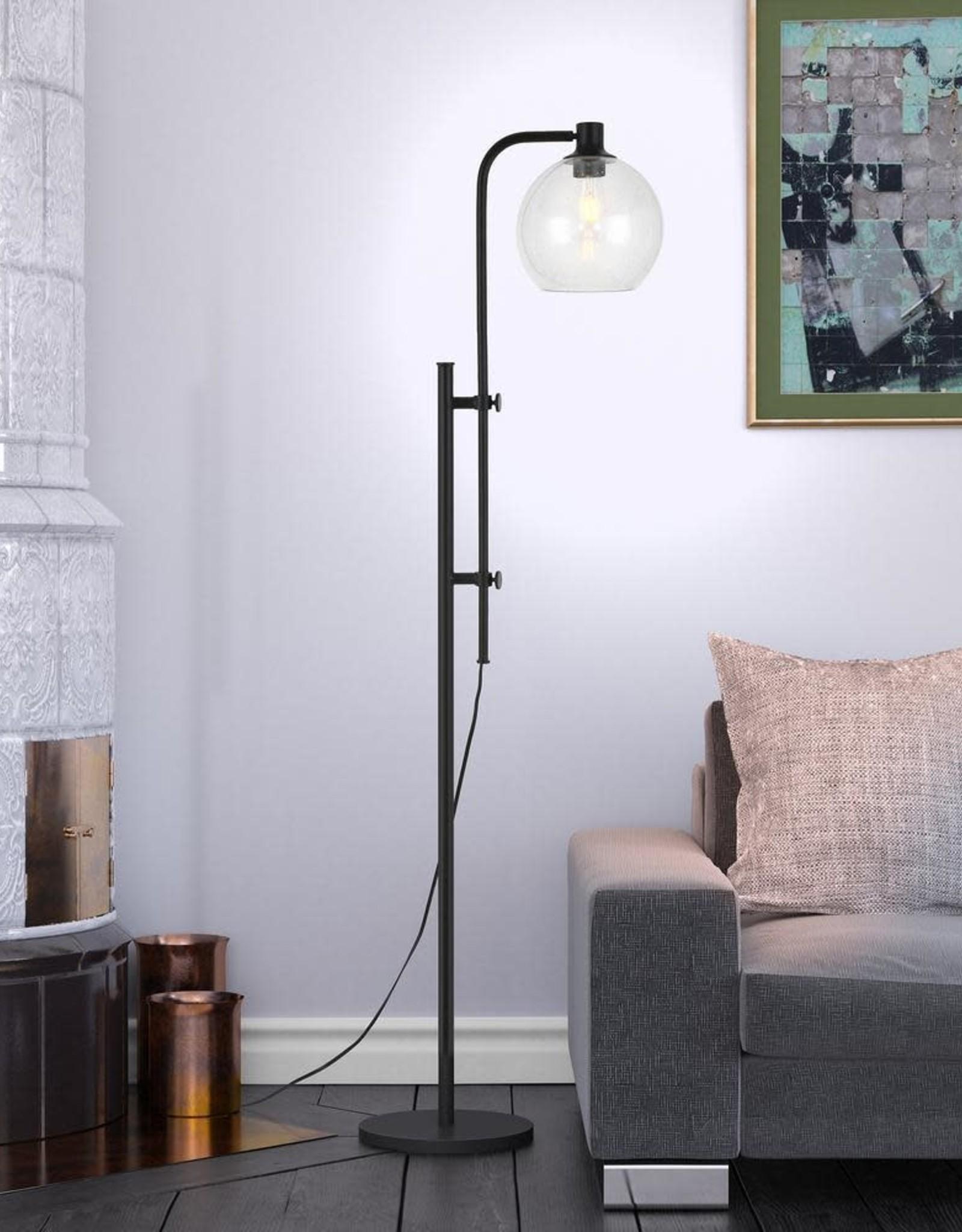 Meyer&Cross Antho 68 in. Blackened Bronze Adjustable Height Floor Lamp
