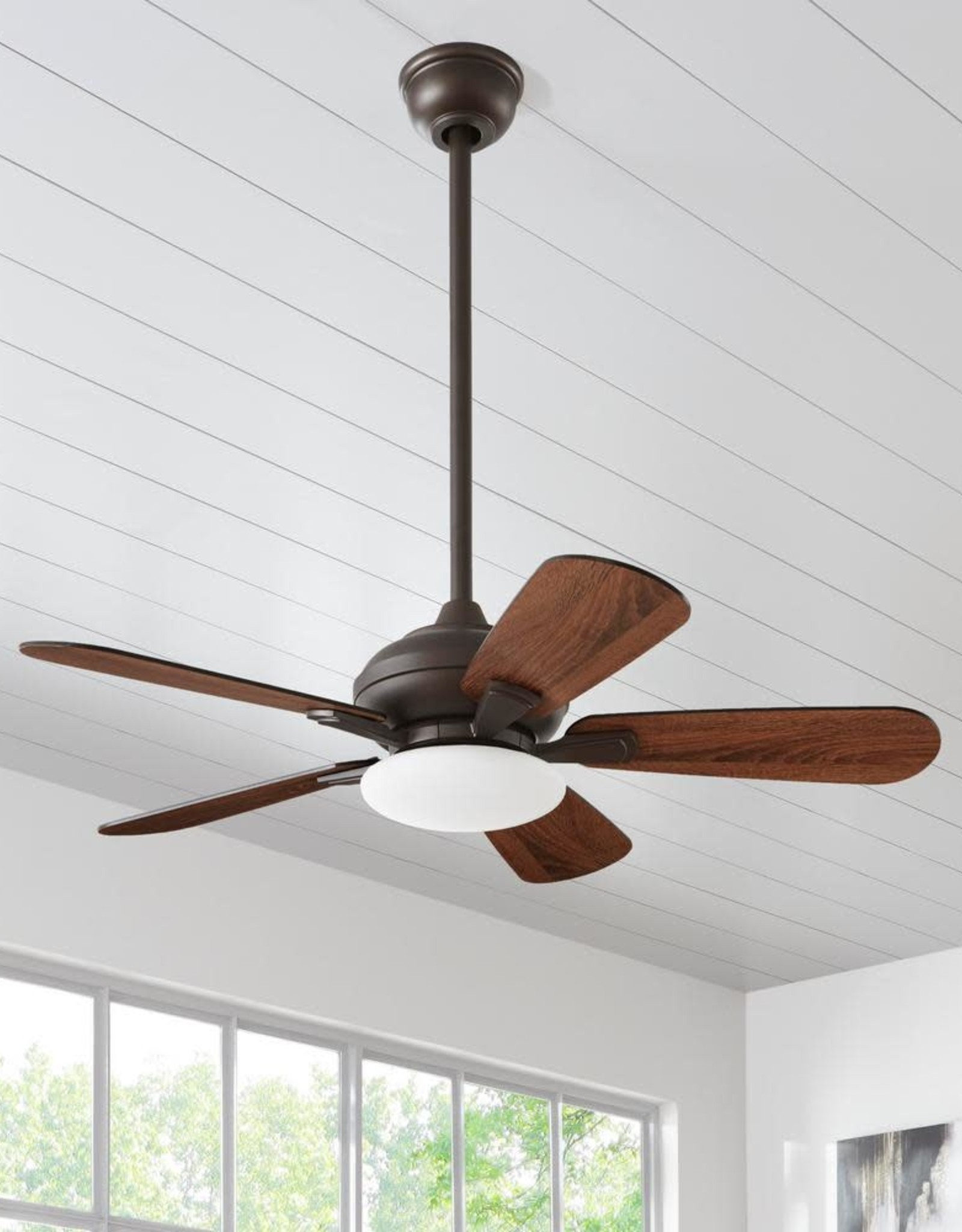 Home Decorators Collection Benson 44 in. LED Espresso Bronze Ceiling Fan with Light and Remote Control