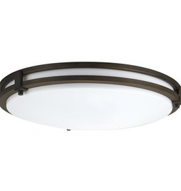 Lithonia Lighting Saturn 2-Light Antique Bronze Flush Mount