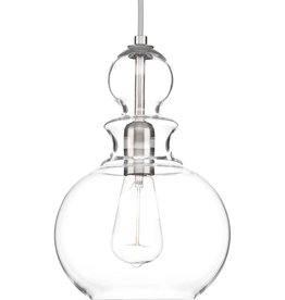 Progress Lighting Staunton Collection 1-Light Brushed Nickel Pendant with Clear Glass