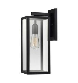 Globe Electric Hurley 1-Light Black Outdoor Wall Lantern Sconce