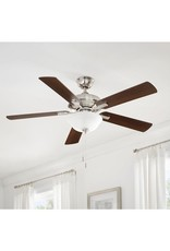 Hampton Bay Larson 52 in. LED Brushed Nickel Ceiling Fan With Light Kit