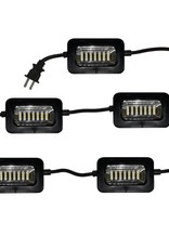 GT-LITE 5-Head 50 ft. 2500-Lumen LED String Light with Easy Install Clips
