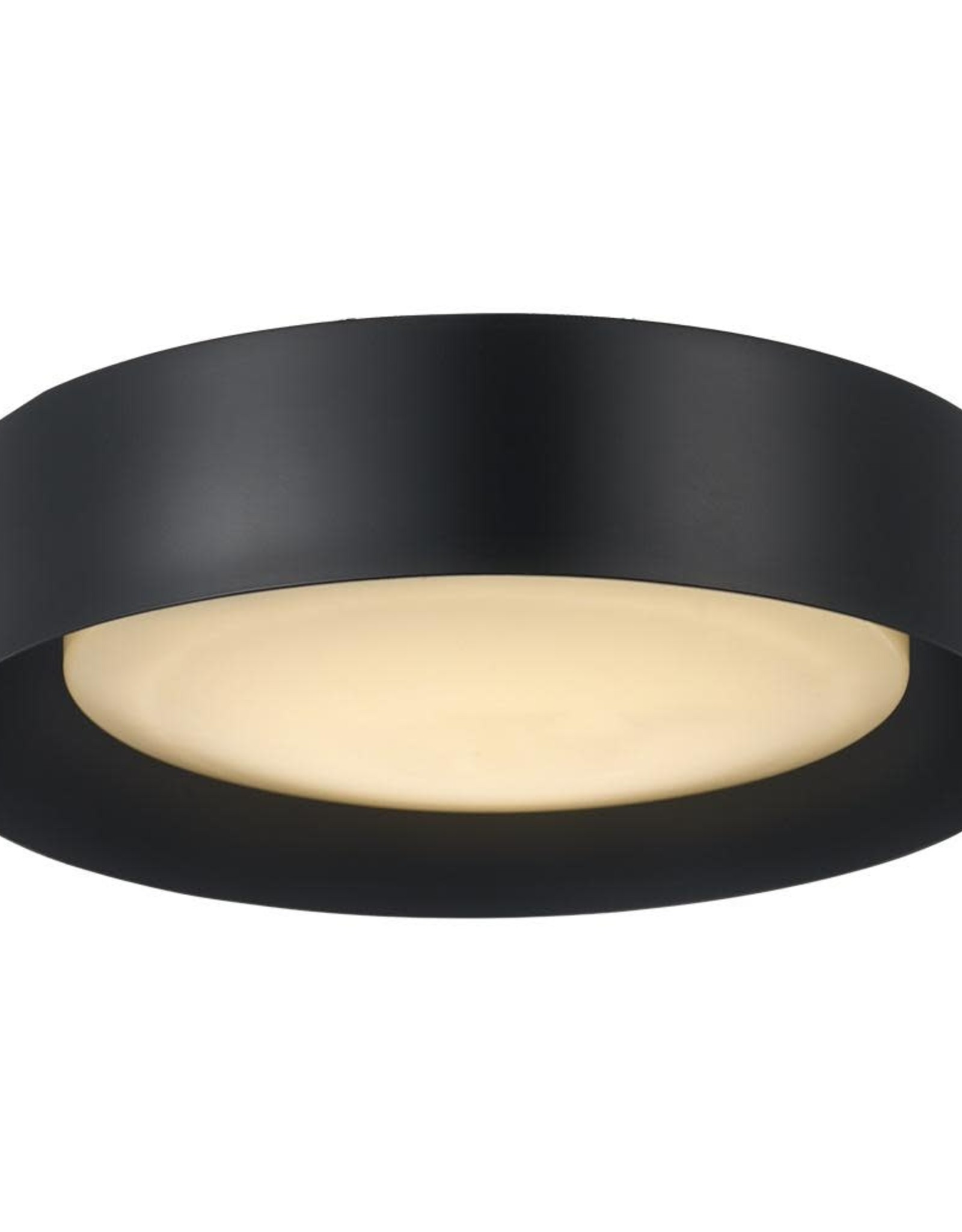 Monteaux Lighting Monteaux 13 in. Black Integrated LED Flush Mount