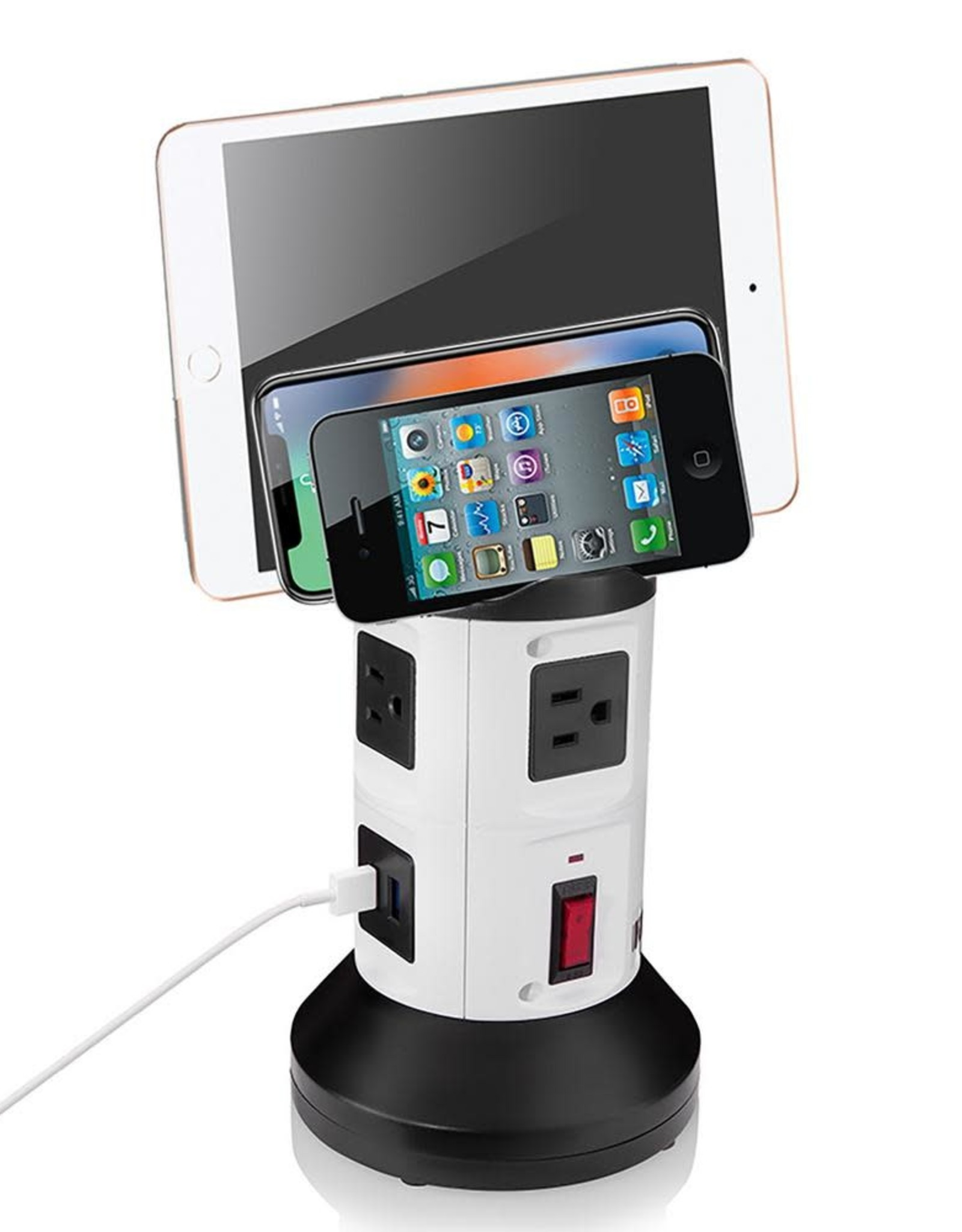 Bell + Howell 4-Outlets / 6 USB Spin Power - The Ultimate Smart Charging Station
