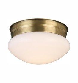 Hampton Bay 12-Watt Antique Brass Integrated LED Ceiling Flush Mount
