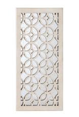 Utopia Medium Rectangle White Antiqued Mirror (31.5 in. H x 15.75 in. W)