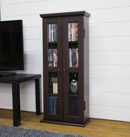 "Walker Edison Furniture Company 41"" Traditional Wood Bookcase Storage Cabinet - Espresso"