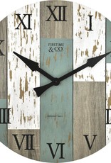 FirsTime 27 in. Multi-Color Oversized Timberworks Wall Clock