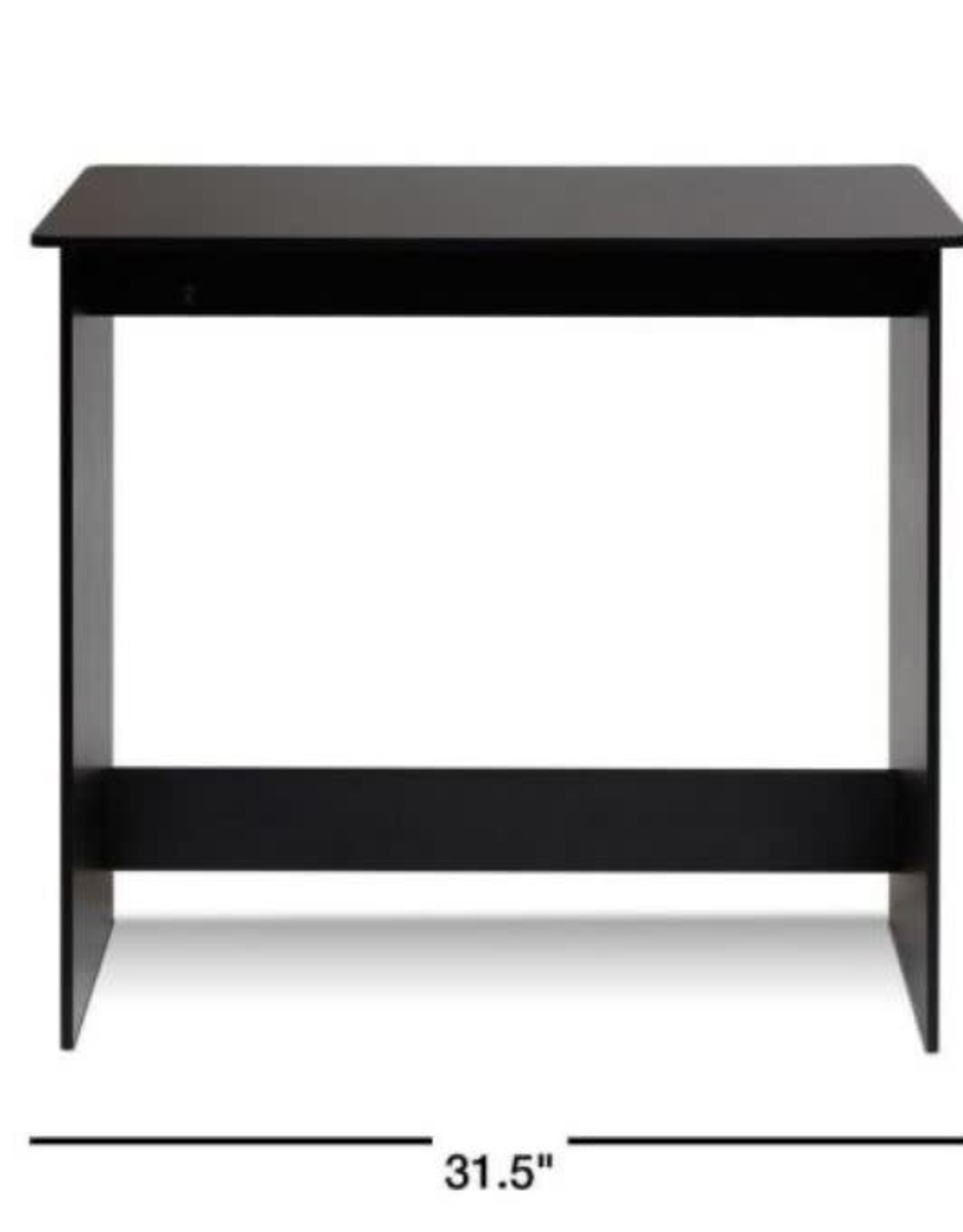 Furrino 32 in. Rectangular Espresso Writing Desk with Solid Wood Material