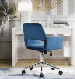 3R Studios Ross Blue Velvet Home Task Chair