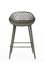 Jamesdar Kurv 26 in. Warm Gray Counter Stool (2)