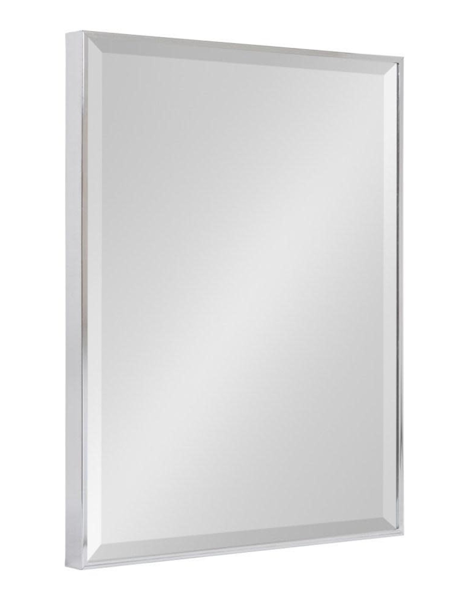 Kate and Laurel Medium Rectangle Chrome Silver Beveled Glass Contemporary Mirror (24.75 in. H x 18.75 in. W)