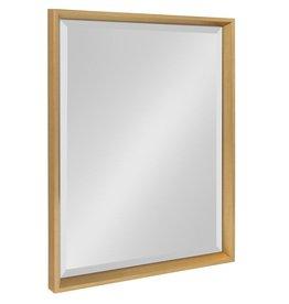 Kate and Laurel Calter 17.5 in. W x 23.5 in. H Framed Rectangular Beveled Edge Bathroom Vanity Mirror in Gold
