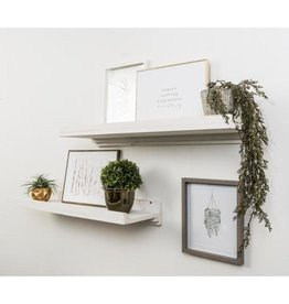 Del Hutson Designs Rustic Luxe 36 in. W x 10 in. D Floating White Decorative Shelves (Set of 2)