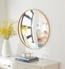 Home Decorators Collection Medium Round Gold Convex Classic Accent Mirror (24 in. Diameter)