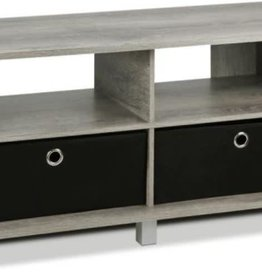 Furrino Home Living 38 in. French Oak Gray Particle Board TV Stand Fits TVs Up to 40 in. with Cable Management