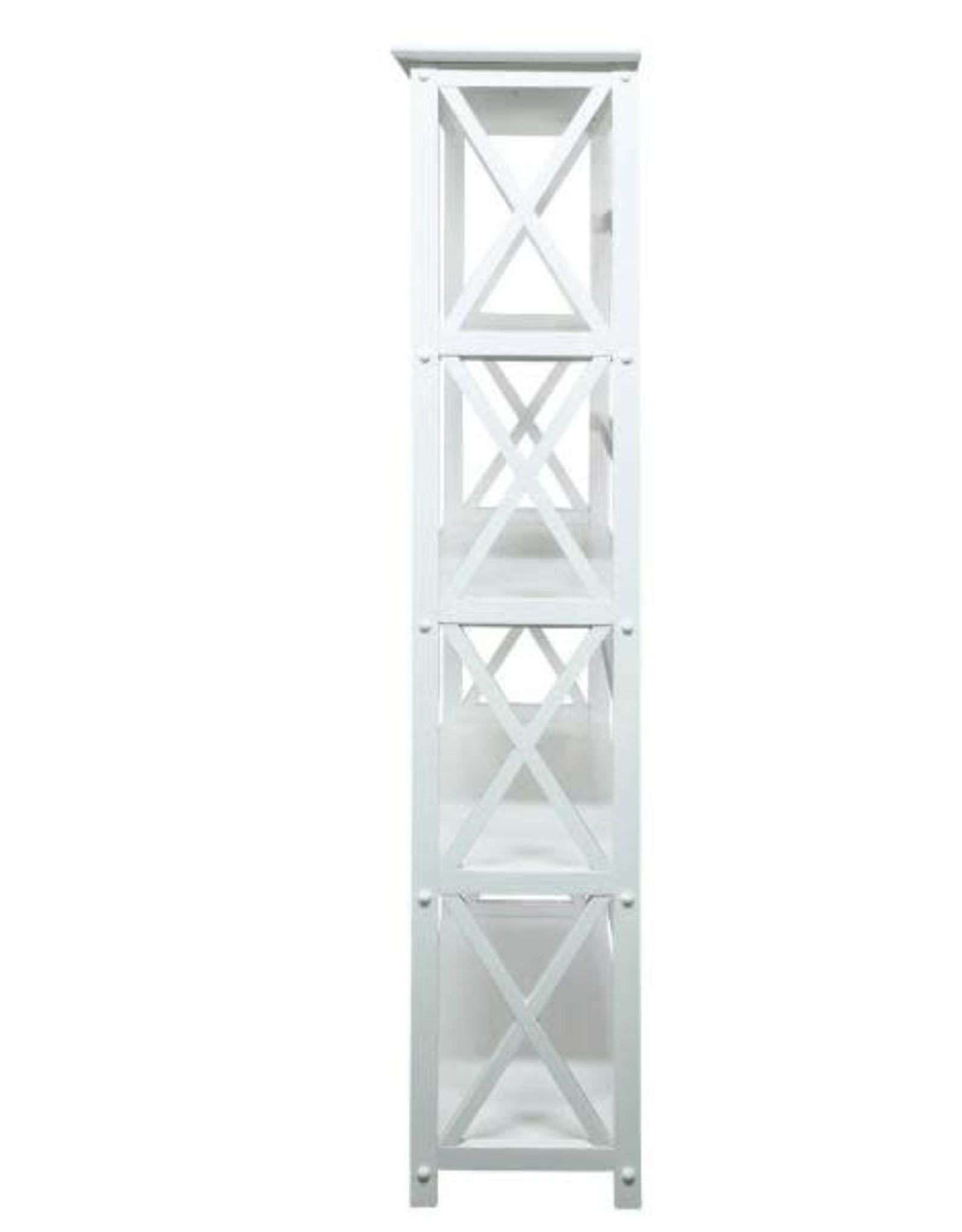 Montego White Open Bookcase