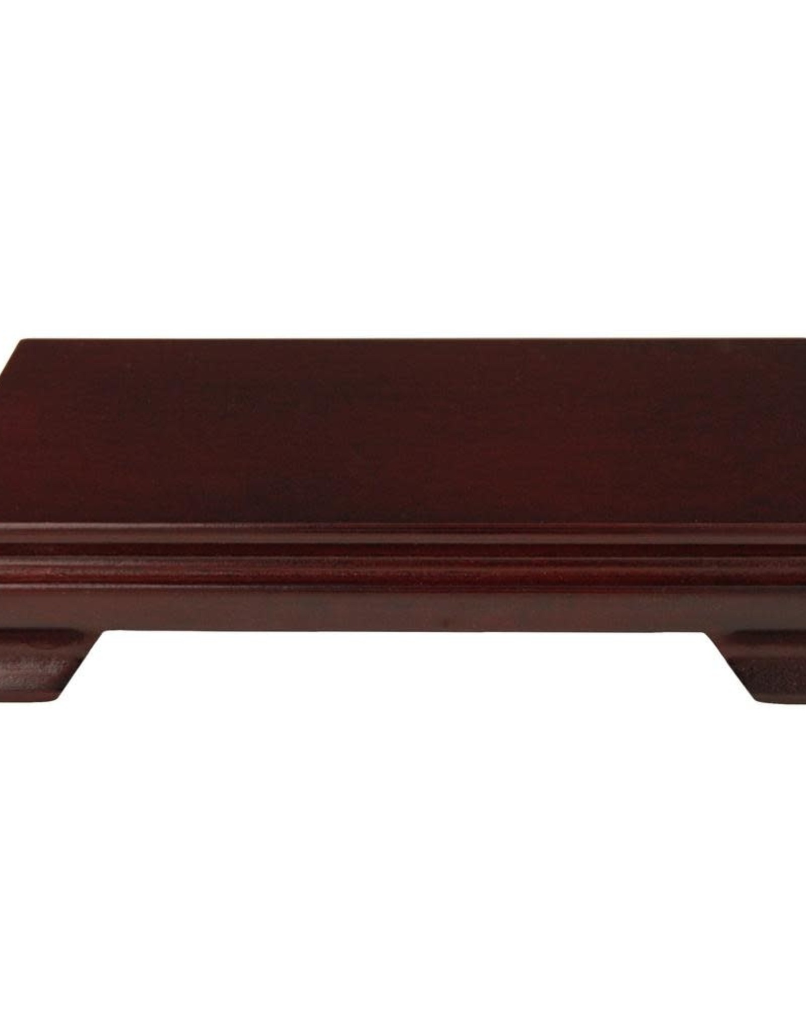 Oriental Furniture Rosewood 9 in. W Decorative Rectangular Stand