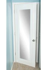 BrandtWorks Oversized Matte White Composite Hooks Modern Mirror