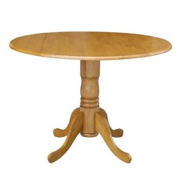 International Concepts Oak Solid Wood Dropleaf Dining Table