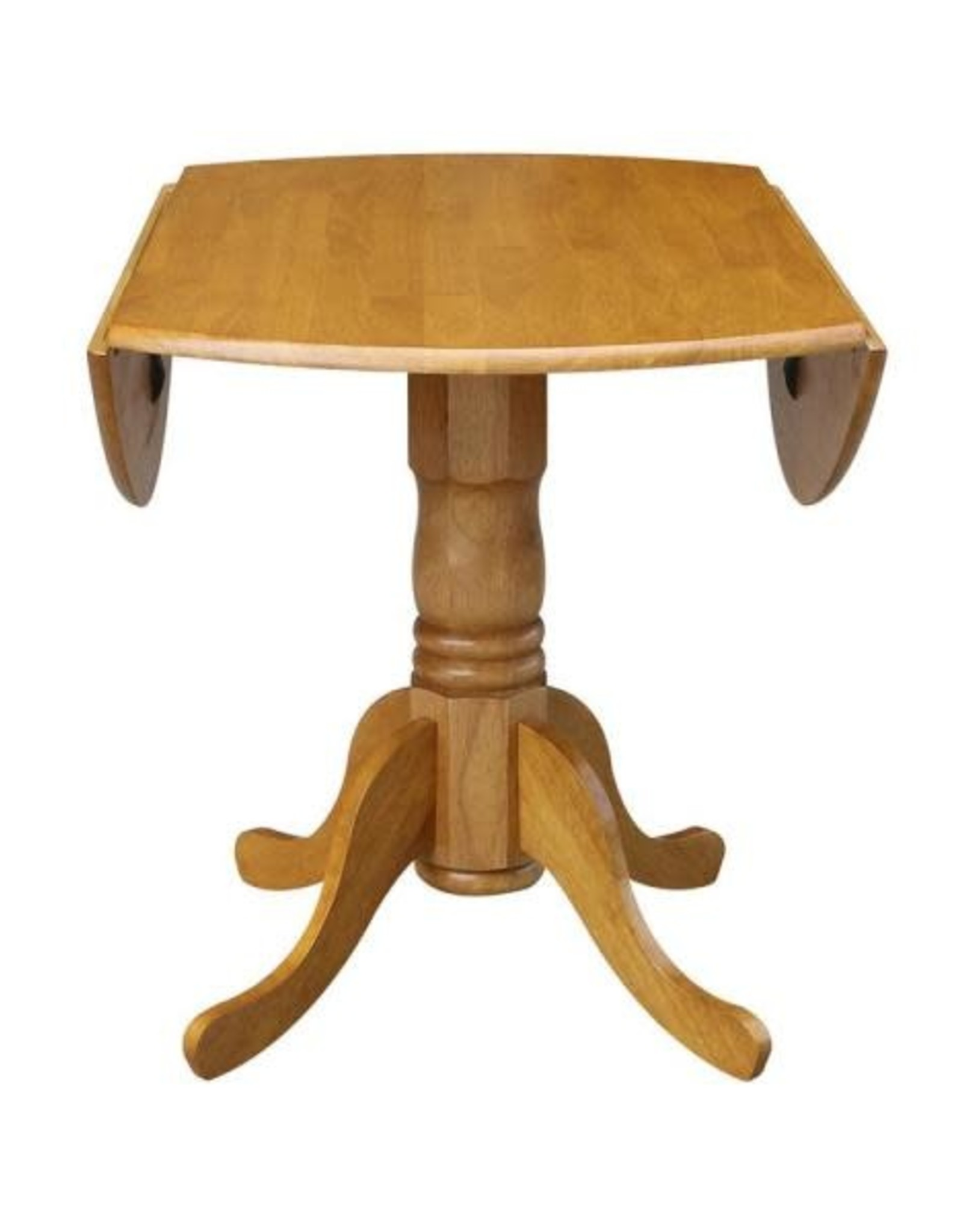 International Concepts Oak Solid Wood Dropleaf Dining Table
