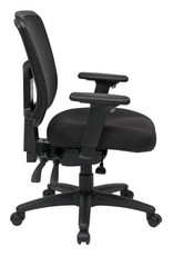 Office Star Black ProGrid Mid Back Manager Office Chair