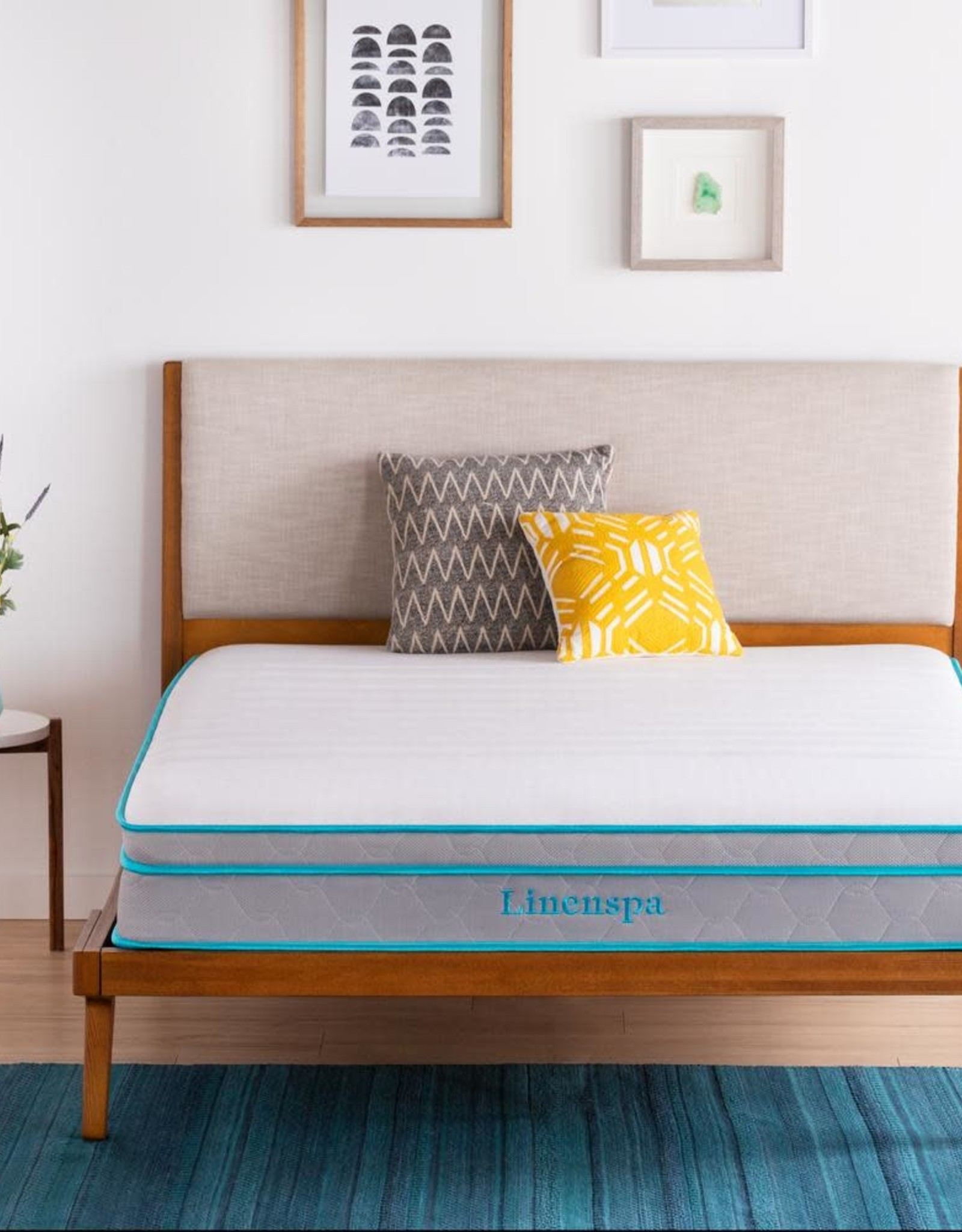 Linenspa Essentials AlwaysCool 10in. Medium Hybrid Tight Top Twin Mattress