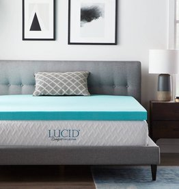 Lucid Comfort Collection 3 Inch Gel and Aloe Infused Memory Foam Topper - Twin XL