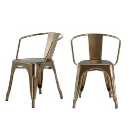 StyleWell StyleWell Bronze Metal Dining Chair (Set of 2)